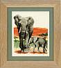 """PN-0021576 Набір для вишивки хрестом Vervaco Elephants Journey """"Слоновий похід"""""""