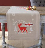 """PN-0021805 Набор для вышивания крестом (дорожка на стол) Vervaco Norwegian Winter """"Норвежская зима"""""""