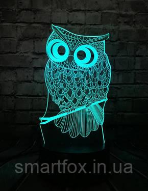 Ночник 3D Сова (меняет цвет), фото 2