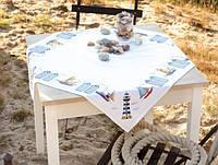 """PN-0145846 Набор для вышивания крестом (скатерть) Vervaco At the coast """"На побережье"""""""