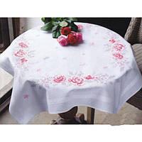 """PN-0145973 Набор для вышивания крестом (скатерть) Vervaco Pink Roses """"Розовые розы"""""""