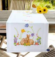 """PN-0146336 Набір для вишивання хрестом (доріжка на стіл) Vervaco Rabbits """"Кролики"""""""