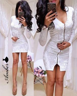 "Бархатное платье ""Зеркало"", размеры 42, 44, фото 2"