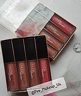 Набор жидких мини-помад Huda Beauty Pink Love Collection, (4 шт.)
