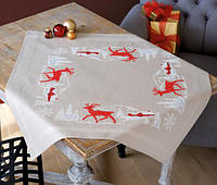"""PN-0147532 Набор для вышивания крестом (скатерть) Vervaco Norwegian Winter """"Норвежская зима"""""""