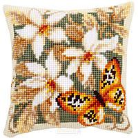 "PN-0148254 Набор для вышивания крестом (подушка) Vervaco Orange Butterfly ""Оранжевая бабочка"""