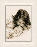 """PN-0148435 Набор для вышивки крестом Vervaco Baby & Sister """"Брат и сестра"""""""