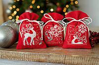 """PN-0150819 Набор для вышивания крестом (мешочки для саше) Vervaco Deers with snowflakes I """"Олени и снежинки"""""""