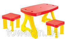 Детский стол MOCHTOYS для пикника+ 2 стула Хит Польша