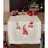 """PN-0155966 Набір для вишивання хрестом (доріжка на стіл) Vervaco Christmas гном """"Різдвяні гноми"""""""