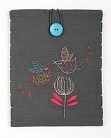 """PN-0156733 Набор для вышивки гладью Vervaco Чехол для планшета Stylized birds """"Стилизованные птицы"""""""