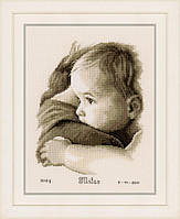 """PN-0158510 Набор для вышивки крестом Vervaco Baby Hug """"Объятие ребенка"""""""
