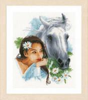 """PN-0166310 Набор для вышивки крестом LanArte My best friend """"Мой лучший друг"""""""