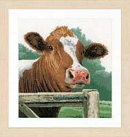 """PN-0170989 Набор для вышивки крестом LanArte Wondering Cow """"Интересная корова"""""""