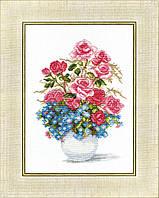 """ВТ-023 Набор для вышивания крестом Crystal Art """"Розы и незабудки"""""""