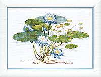 """ВТ-078 Набор для вышивания крестом Crystal Art """"Нежная нимфея"""""""