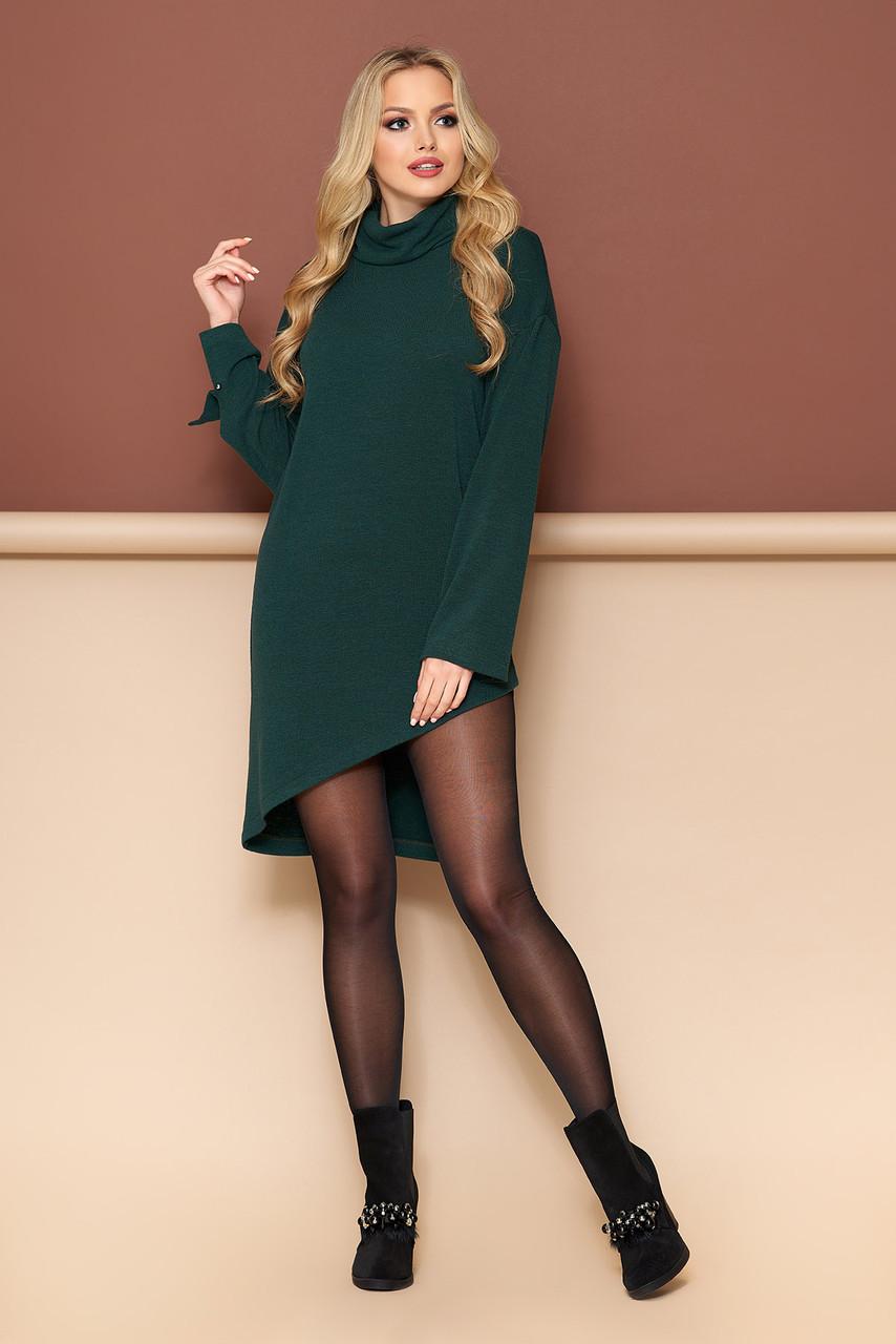 Теплая туника платье зеленая