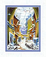 """ВТ-162 Набор для вышивания крестом Crystal Art """"Зимний дворик"""""""
