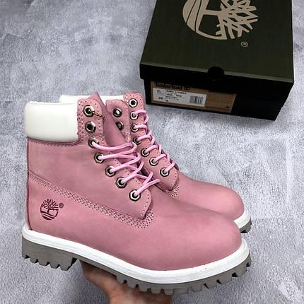 caebf64cea06 Женские зимние ботинки Timberland розовые топ реплика, фото 2