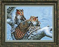 """ВТ-526 Набор для частичной вышивки крестиком Crystal Art """"Теплое гнездо"""""""
