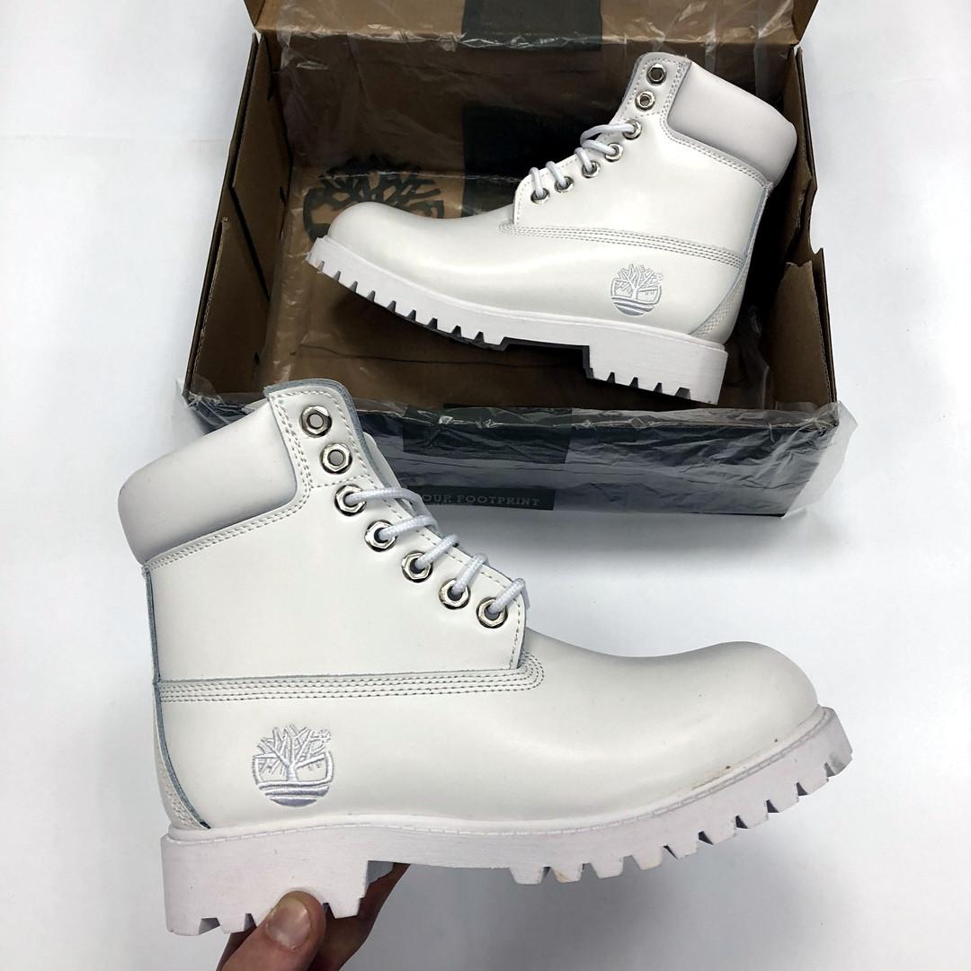 770c229cf190 Женские Зимние Ботинки Timberland Белые Топ Реплика — в Категории