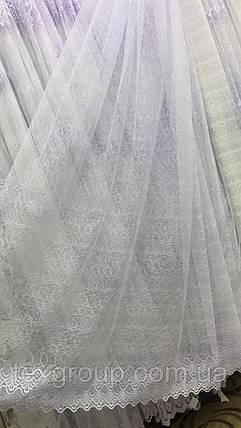 Тюль фатин белая VST-1423, фото 2