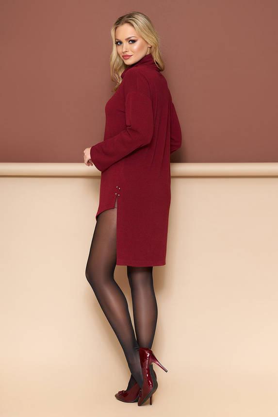 Осенняя туника платье бордовая, фото 2