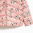 Розовая куртка с цветами для девочки Zara Испания Размер 122, 134, фото 3