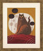 """Набор для валяния картины Чарівна Мить В-213 Триптих """"Жил-был кот"""""""
