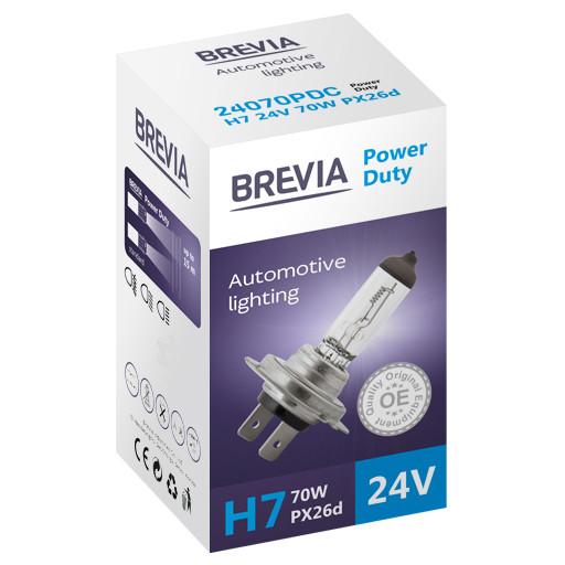 Галогеновая лампа Brevia H7 Power Duty 24v/70w