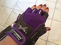 Перчатки для фитнеса сиреневые WOMANS POWER без пальцев женские р. XS, S,