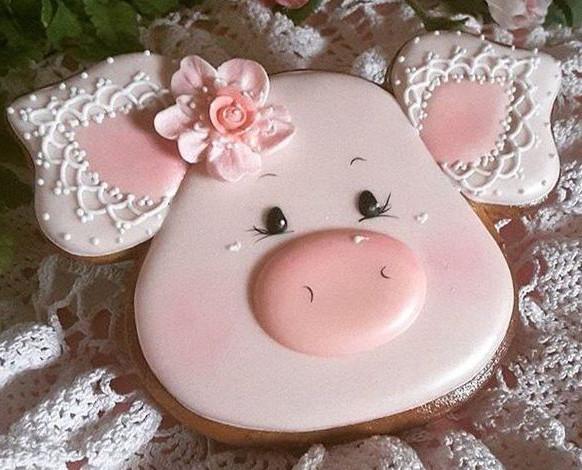 Пряник поросенок имбирно-медовый. Пряник свинья