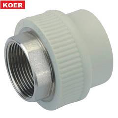 Муфта с внутреней резьбой под ключ 32x1 Koer K0090.PRO