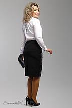 Женская юбка с экокожей и перфорацией больших размеров (1991 svt), фото 3