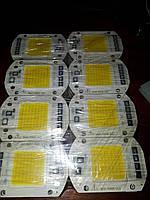 Светодиод 50w 220v LEd Smart IC 50w 6500K светодиодная матрица 50w с драйвером на борту, фото 1