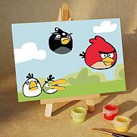 Картина на холсте Птички преодолевают препятствия (MC005) 20х30 см
