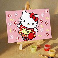 Картина на холсте Hello Kitty в кимоно (MC016) 20х30 см