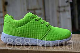 Женские кроссовки nike roshe run Green, копия