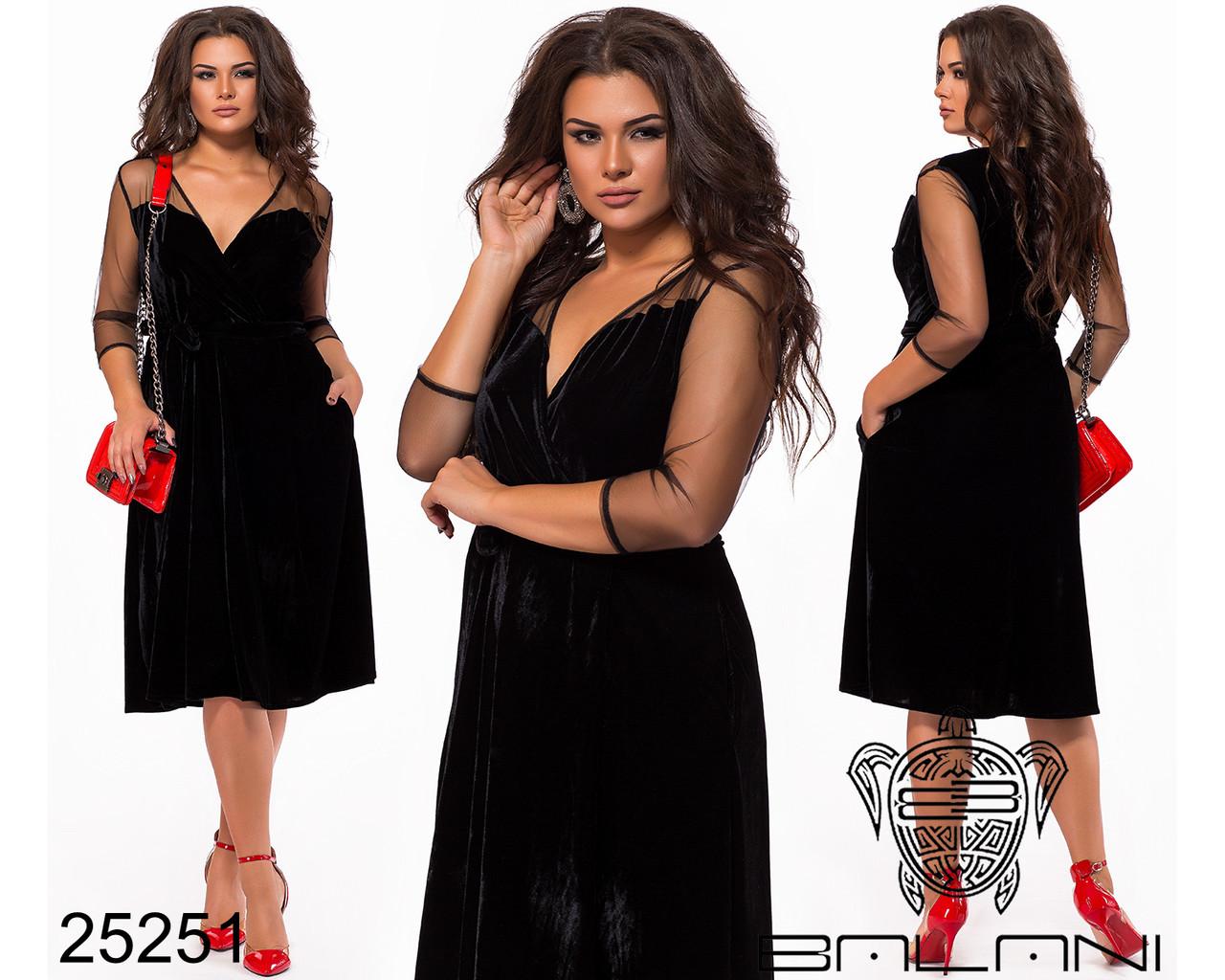 Нарядна сукня з бархату-муару та сітки