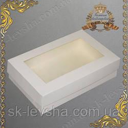 Коробка для эклеров и зефира с ОКНОМ 230*150*60 Белая