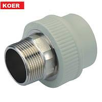 Муфта с наружней резьбой под ключ 32x1 Koer K0099.PRO