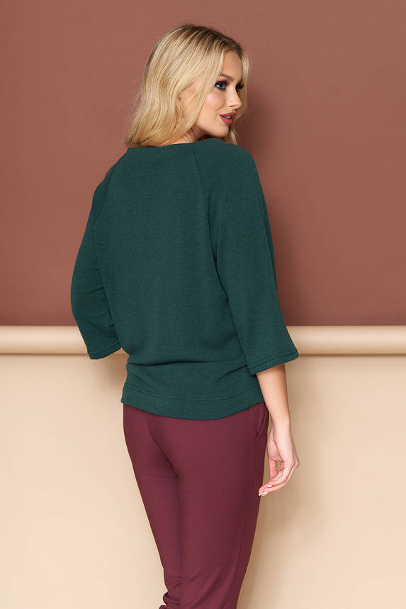 Красивая женская кофточка со шнуровкой зеленая, фото 2