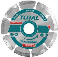 Акс.інстр TOTAL TAC2111803 Алмазний диск сегм, універс, 180х22.2мм.