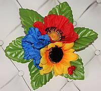 Заколка Польові квіти (велика)