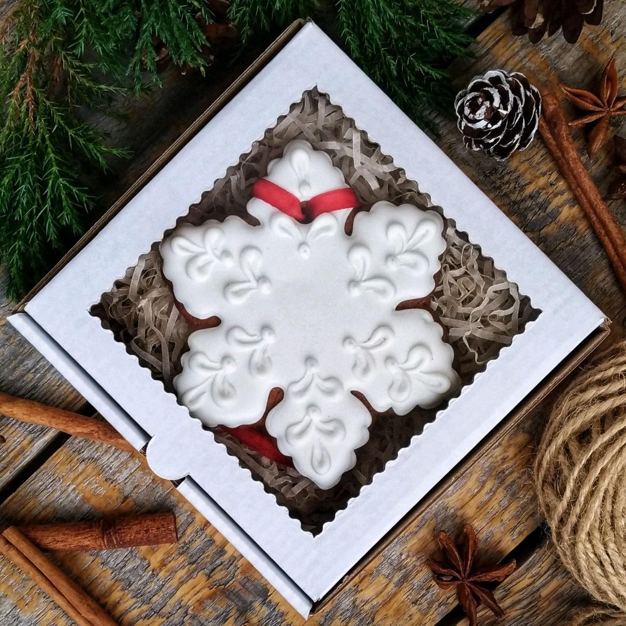 Пряники с логотипом Снежинка