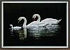 """Набор картина стразами Crystal Art КС-1026 """"Лебединая семья"""""""