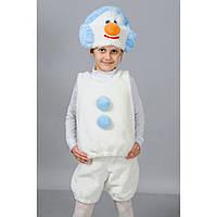 Новогодний костюм снеговик из меха, размер 7-11 лет