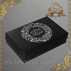Коробочка для эклеров и зефира 230 * 150 * 60 черная