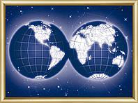 """Набор картина стразами Чарівна Мить КС-188 """"Карта мира"""""""