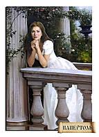 """РТ150038 Набор для создания объемной картины из бумаги (папертоль) """"Девушка у балюстрады"""""""